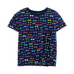 Girls 4-14 Carter's Greetings Knotted Graphic Tee