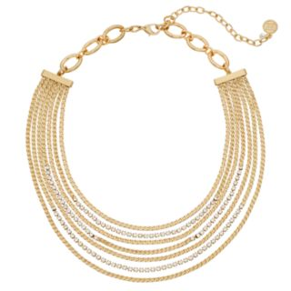 Dana Buchman Multi Strand Simulated Crystal Necklace