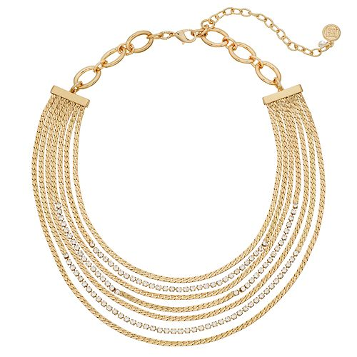 Dana Buchman Multi Strand Simulated Crystal Necklace