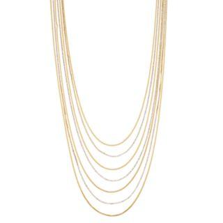 Dana Buchman Gold Tone Multi Strand Necklace