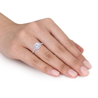 Stella Grace 2 ct. T.W. Square Cut Lab-Created Moissanite & 1/4 ct. T.W. Diamond Engagement Ring