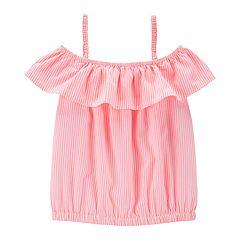 Girls 4-14 OshKosh B'gosh® Striped Off-The-Shoulder Top