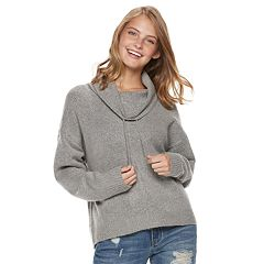 Juniors' It's Our Time Long Sleeve Funnel Neck Top