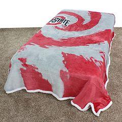 Ohio State Buckeyes Sherpa Throw Blanket