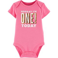 Baby Girl Carter's 'Hooray I'm One! Today' Graphic Tee