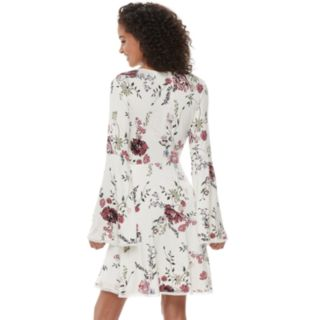 Juniors' American Rag Floral Bell Sleeve Swing Dress