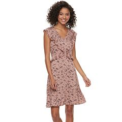 Juniors' American Rag Ruffled Floral Dress