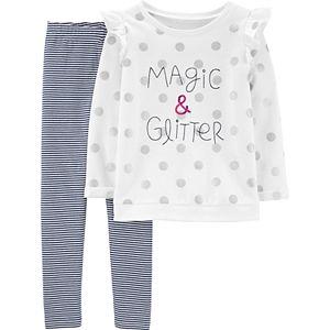 47c8a55f6270c Girls 4-10 Dollie & Me Dot Dress, Leggings & Matching Doll Outfit Set