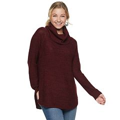 Juniors' It's Our Time Cowl Neck Tunic Sweater