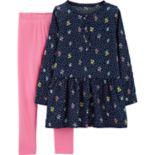 Girls 4-8 Carter's Floral Tunic & Solid Leggings Set