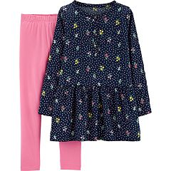 Girls 4-8 Carter's Floral Tunic & Solid Leggings Set
