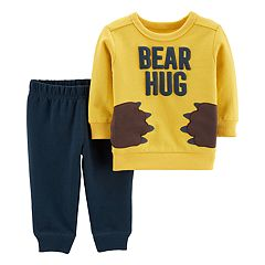 Baby Boy Carter's 'Bear Hug' Pullover Top & Jogger Pants Set