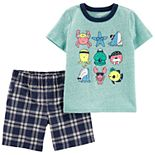 Baby Boy Carter's Sea Life Tee & Plaid Shorts Set