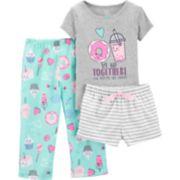 Toddler Girl Carter's Donut Top & Bottoms Pajama Set