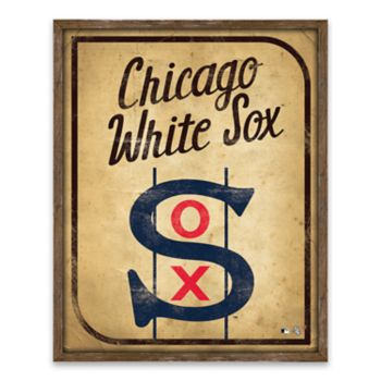 Chicago White Sox Vintage Card Wood Wall Decor
