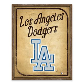 Los Angeles Dodgers Vintage Card Wood Wall Decor