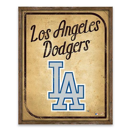 Los Angeles Dodgers Vintage Card Wood Wall Decor