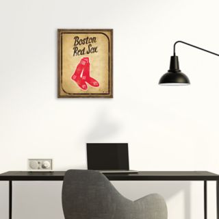 Boston Red Sox Vintage Card Wood Wall Decor