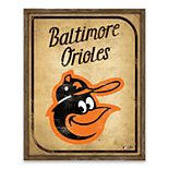 Baltimore Orioles Vintage Card Wood Wall Decor