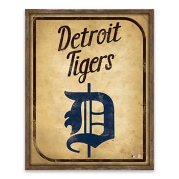 Detroit Tigers Vintage Card Wood Wall Decor
