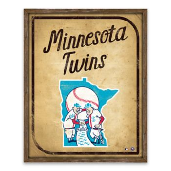 Minnesota Twins Vintage Card Wood Wall Decor