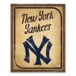 New York Yankees Vintage Card Wood Wall Decor