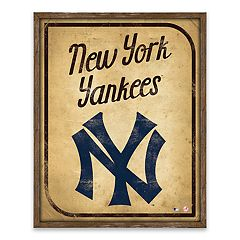 New York Yankees Vintage Card Wood Wall Decor
