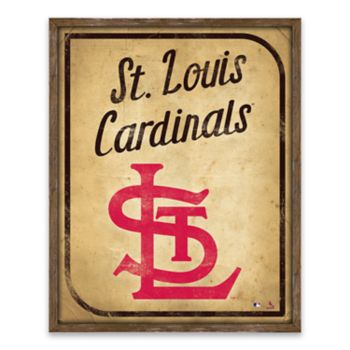 St. Louis Cardinals Vintage Card Wood Wall Decor