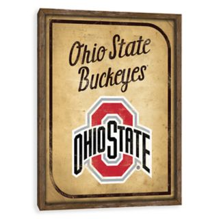 Ohio State Buckeyes Vintage Card Wood Wall Decor