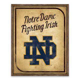 Notre Dame Fighting Irish Vintage Card Wood Wall Decor