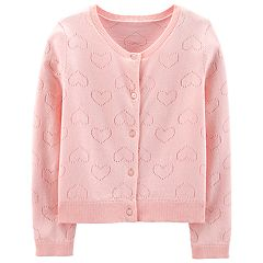 Girls 4-14 Carter's Pointelle Heart Cardigan