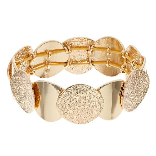 Dana Buchman Textured Disc Stretch Bracelet