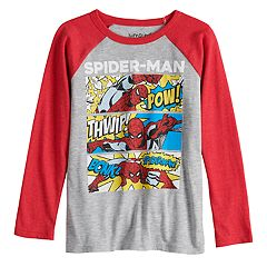 Boys 4-12 Jumping Beans® Spider-Man Comic Strip Raglan Graphic Tee