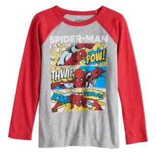 Boys 4-12 Jumping Beans® Spider-Man Comic Strip Raglan Graphic Tee
