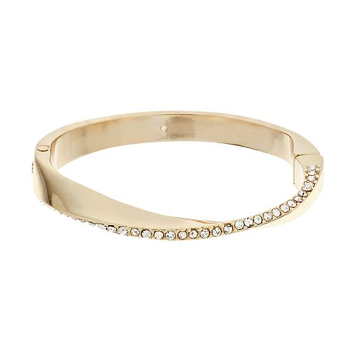 Dana Buchman Simulated Crystal Twist Bangle Bracelet
