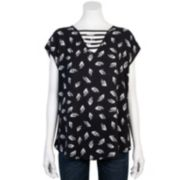 Juniors' Grayson Threads Ladder Neckline Top