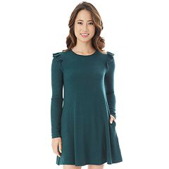 Juniors' IZ Byer Ruffled Sweaterdress