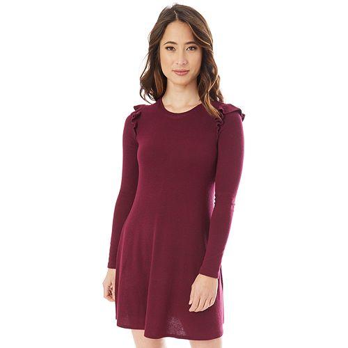 Juniors' IZ Byer Ruffled Sweaterdress