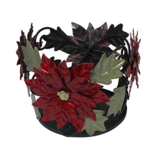 SONOMA Goods for Life? Poinsettia Small Candle Jar Holder
