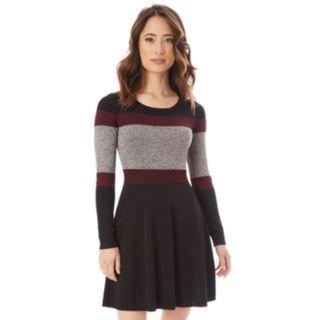 Juniors' IZ Byer Colorblock Skater Sweater Dress
