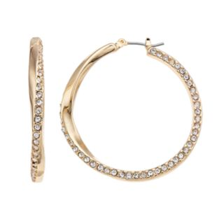 Dana Buchman Simulated Crystal Twist Hoop Earrings