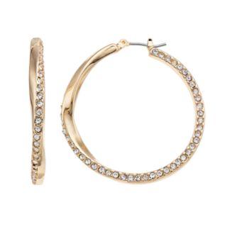 Dana Buchman Simulated Crystal Twist Hoop Earrings