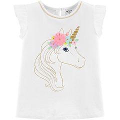 Girls 4-12 Carter's Glittery Unicorn Top