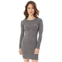 Juniors Iz Byer Lace Up Shoulder Sweater Dress