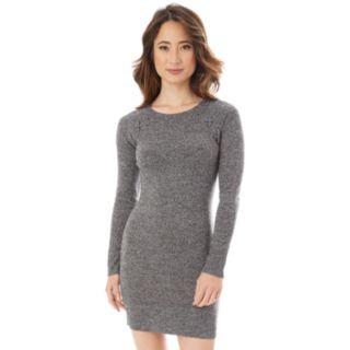 Juniors' IZ Byer Lace-Up Shoulder Sweater Dress