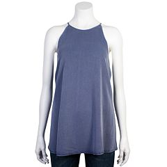 Juniors' Grayson Threads Halter Tank