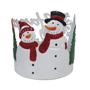 SONOMA Goods for Life? Snowman Large Candle Jar Holder