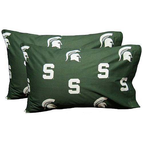 Michigan State Spartans King-Size Pillowcase Set