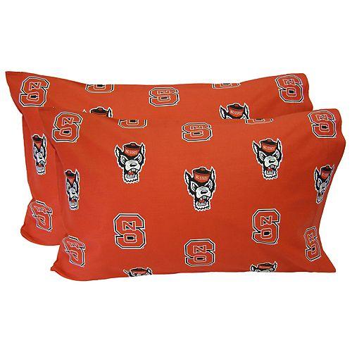 North Carolina State Wolfpack King-Size Pillowcase Set