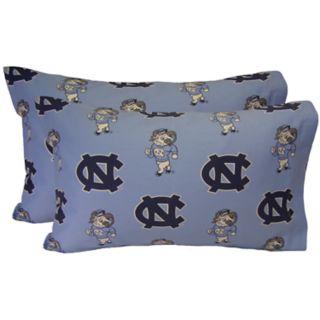 North Carolina Tar Heels King-Size Pillowcase Set